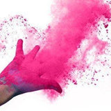 pink holi color powder gender reveal