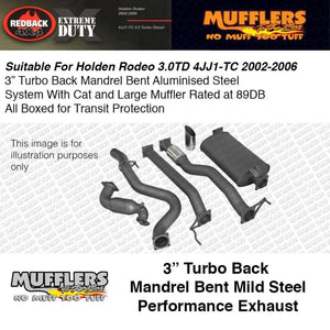 Redback Exhaust System: Holden Rodeo D/C UTE 03-06 3.0L T/D