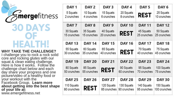 30 Day Butts & Gut Challenge