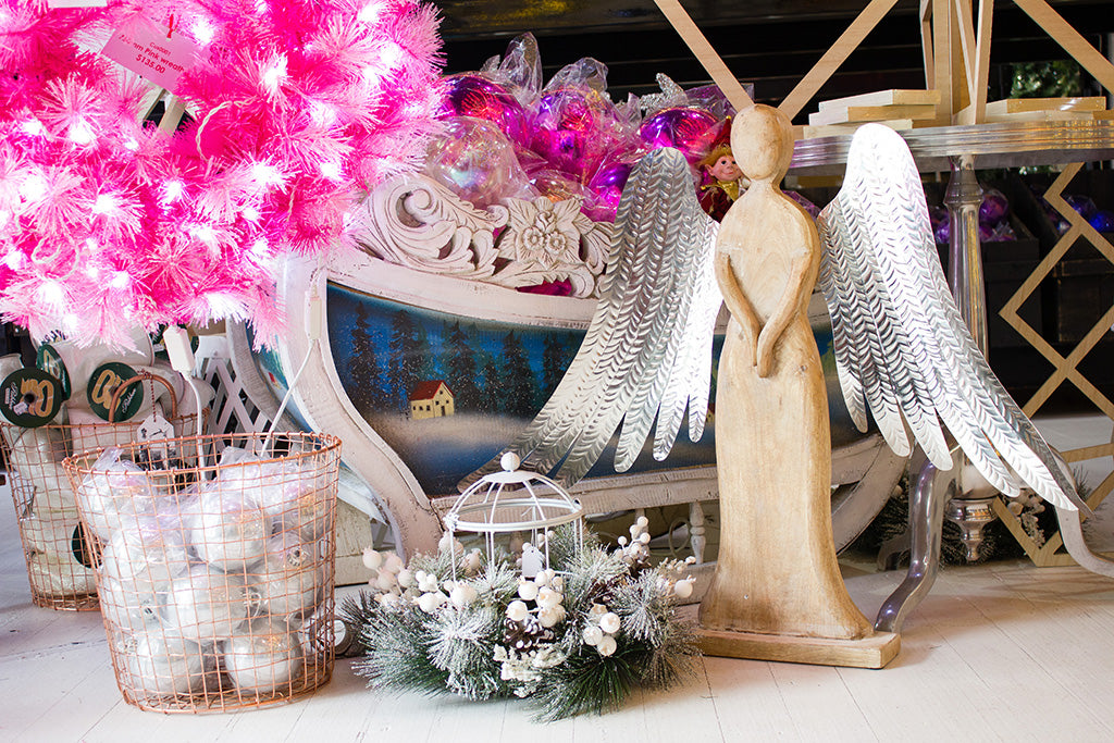 Angel and Christmas decorations