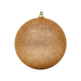 7cm Rose Gold Glitter Baubles - 12 Pack