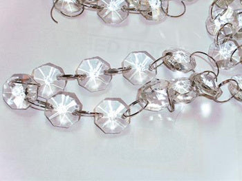 Clear Octagon Diamond Garland - 182cmL
