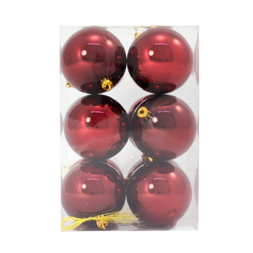 7cm Burgundy Shiny Bauble