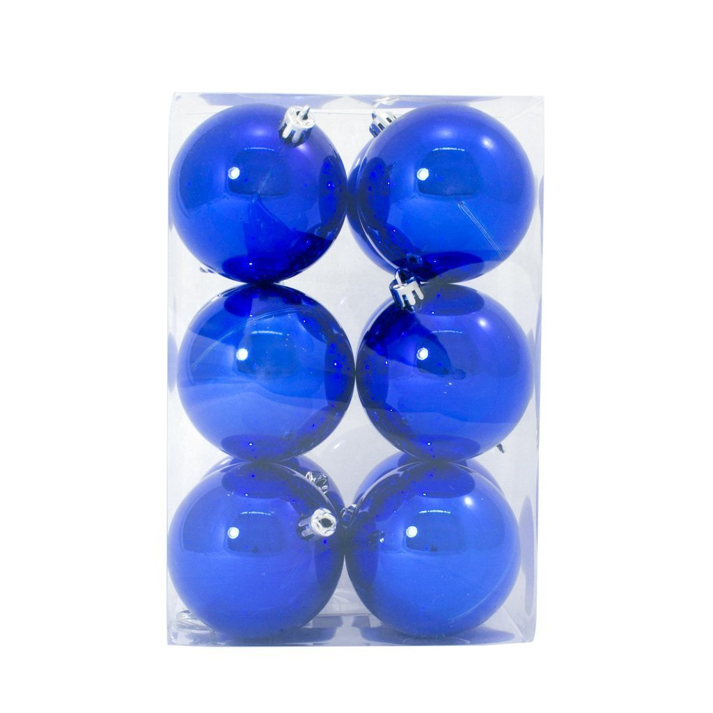 7cm Blue Shiny Bauble