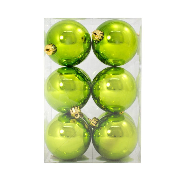 7cm Lime Shiny Bauble