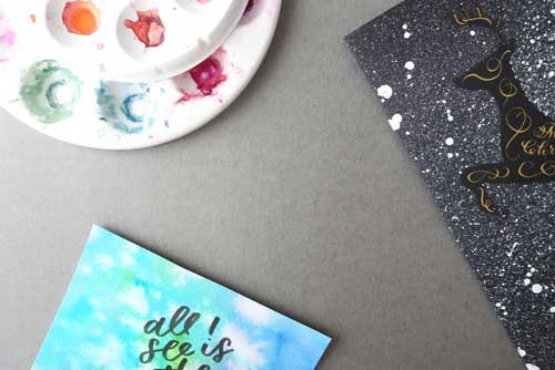 Easy watercolor background ideas for hand lettering