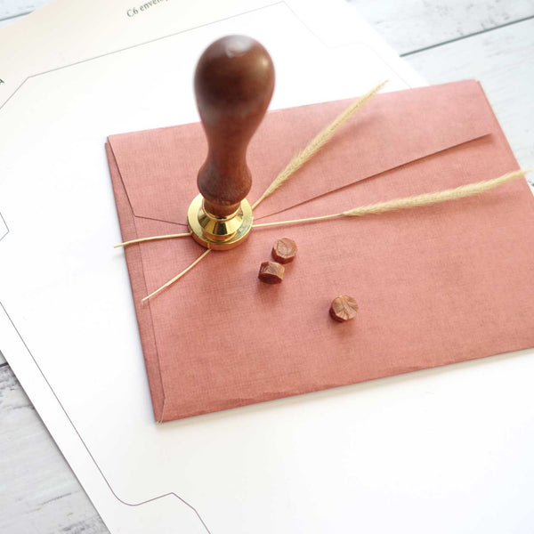 Handmade envelope template free for wax seal