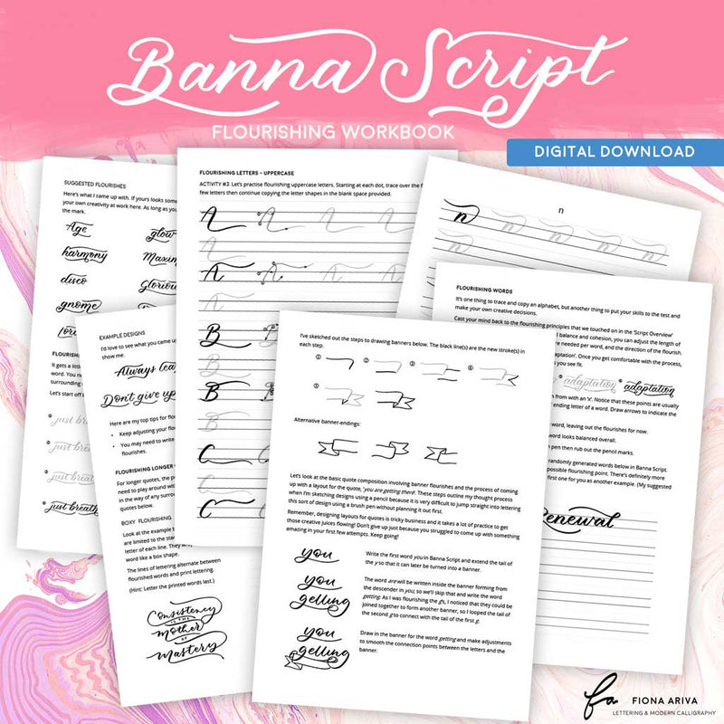 Flourishing Workbook - Banna Script