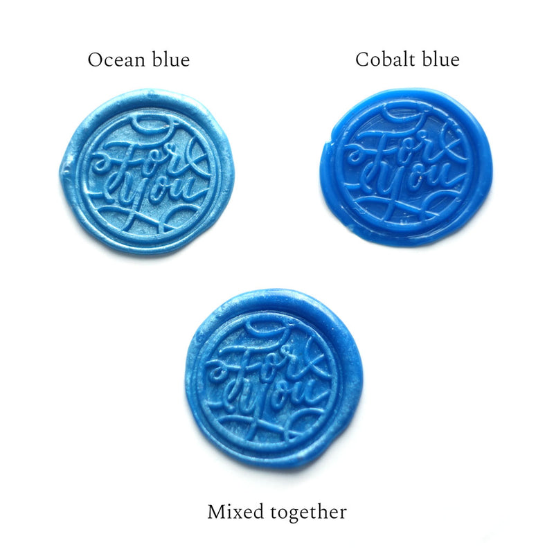 Ocean cobalt navy royal blue wax seals