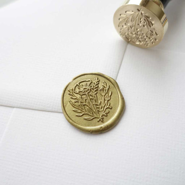 Flower floral wax seal stamp for packaging wedding envelopes