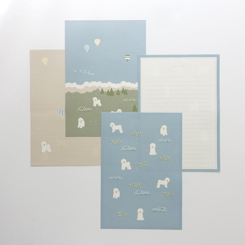Bichon frise dog cute letter writing paper