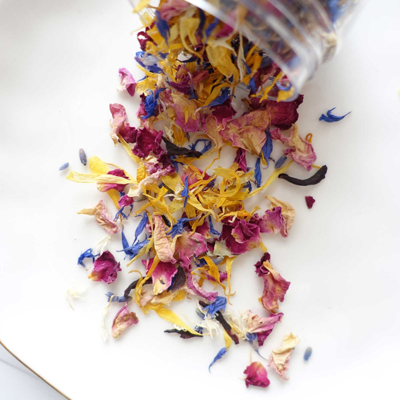 Dried flowers for wax sealing mix confetti
