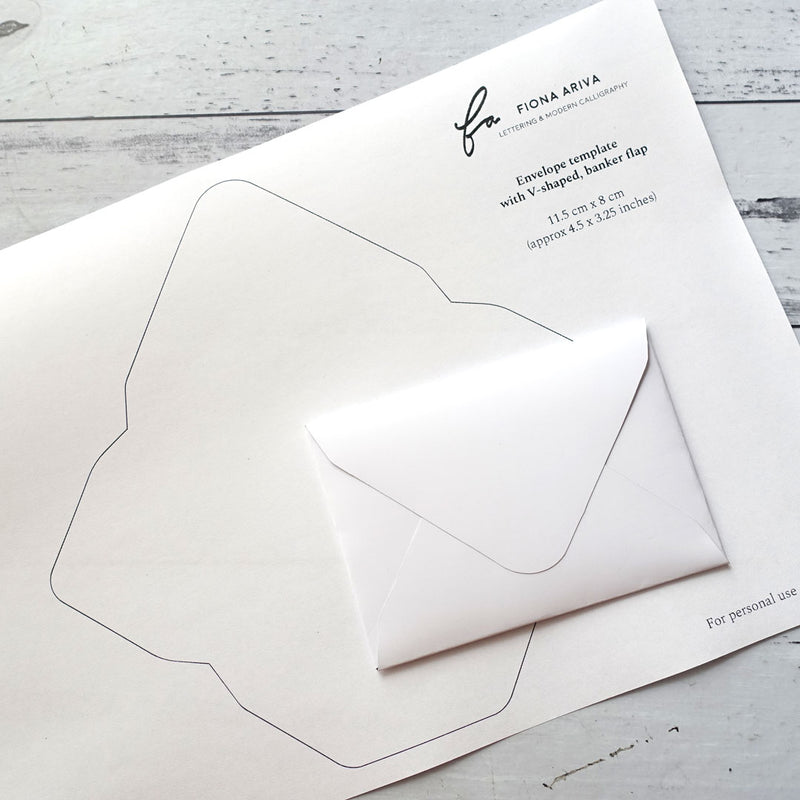 Free printable template with small handmade envelope