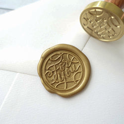 For you wax sealing stamp and wax seal on wedding invitation envelope