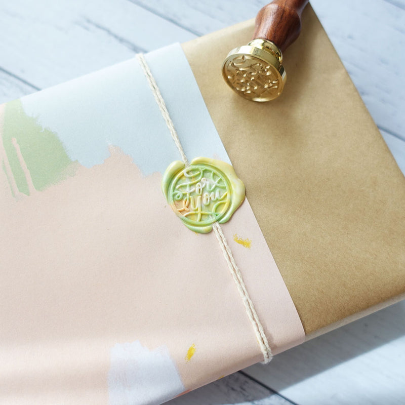 Gift wrapping idea featuring for you wax seal