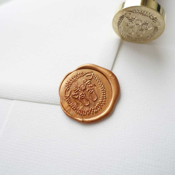 Hedgehog cute animal wax seal stamp for packaging