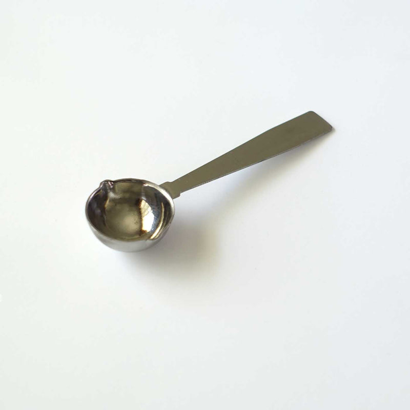 Large big double spout metal wax sealing spoon left hand