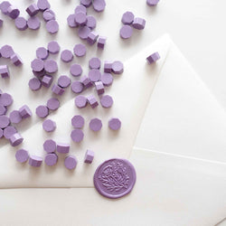 Pale light purple lilac lavender envelope wax seal