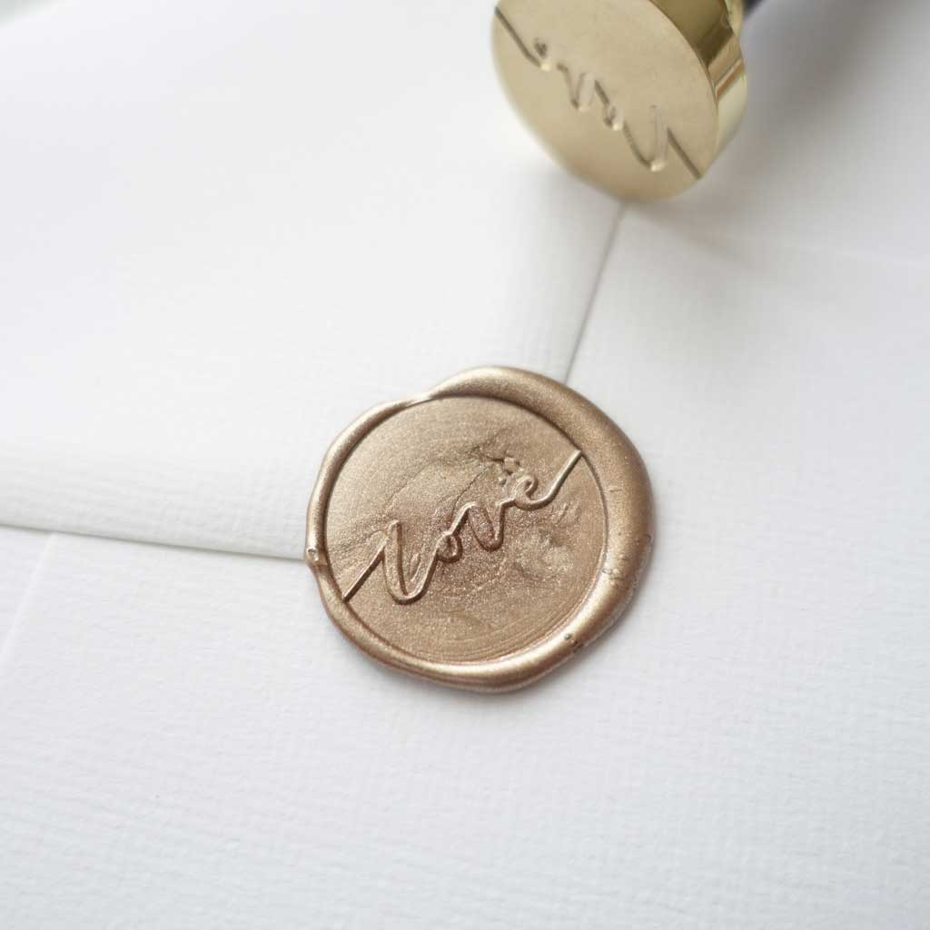 Love calligraphy wax seal stamp for wedding envelopes