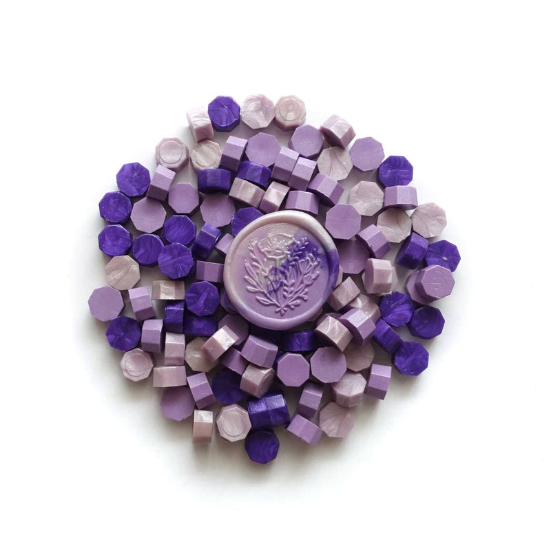 Fiona Ariva mixed purple lavender sealing wax granules Australia