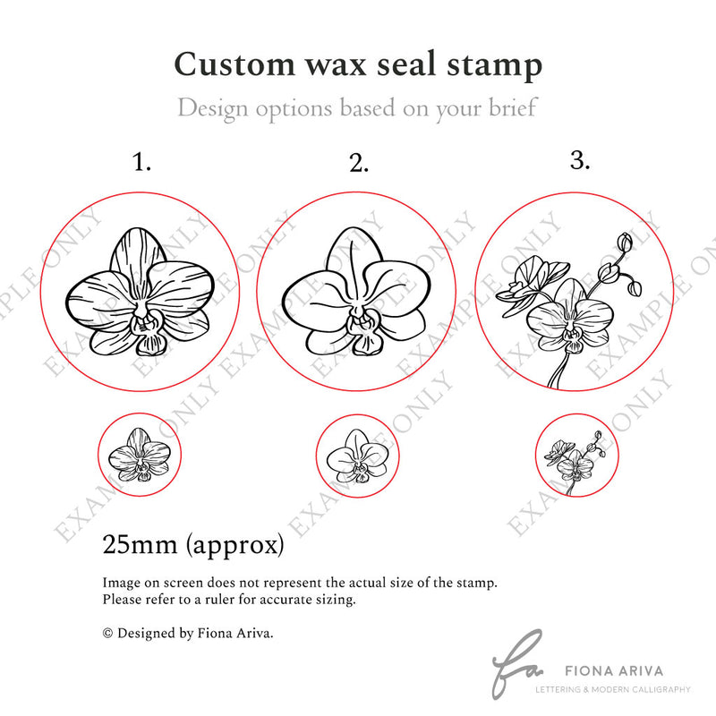 Custom wax seal stamp with design service Australia