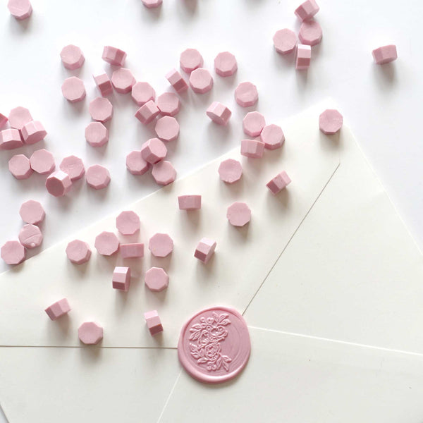 Primrose baby light pale pink sealing wax beads granules Melbourne Sydney Australia