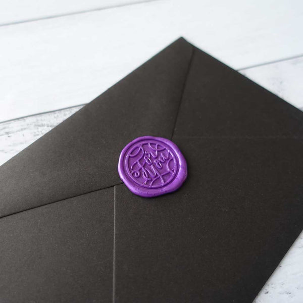 Purple sealing wax for you on envelope