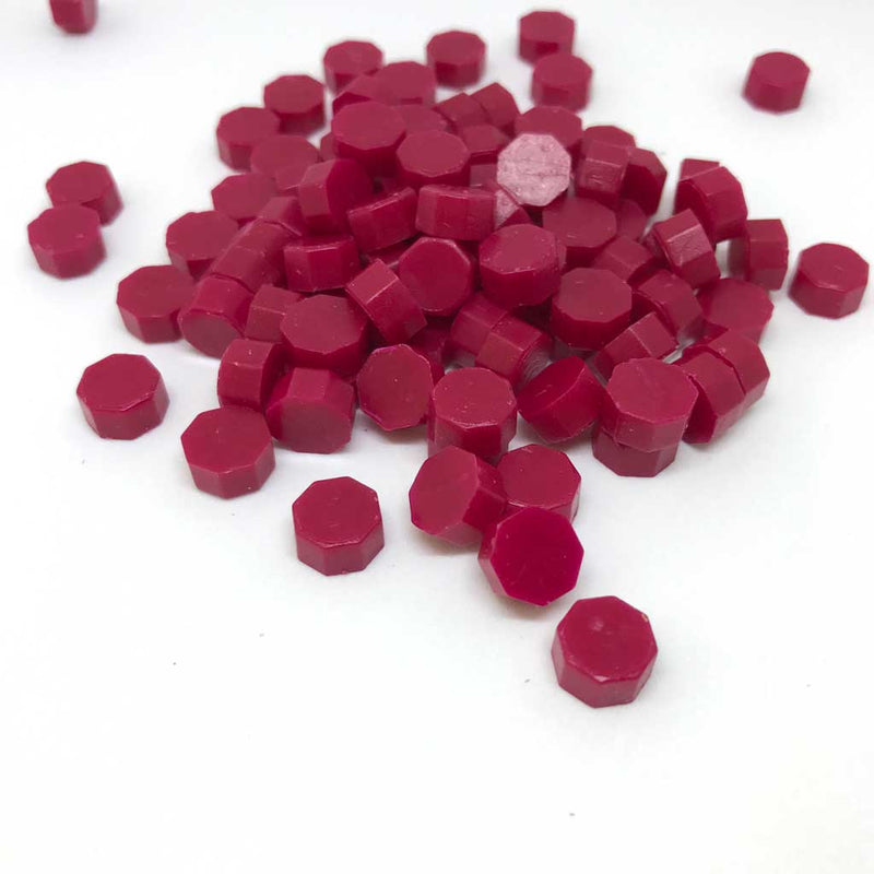Plum Red 100pcs sealing wax granules tablets beads pellets