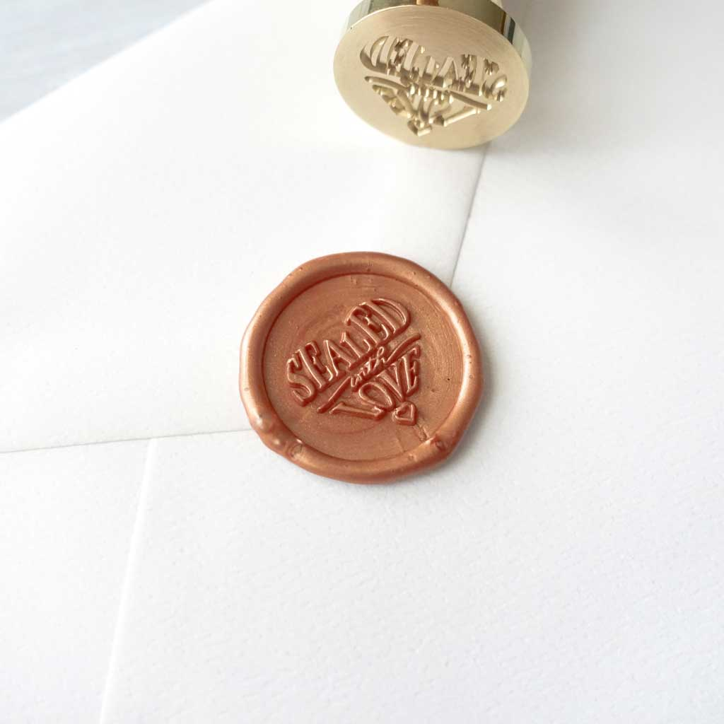 Sealed with Love wax seal stamp