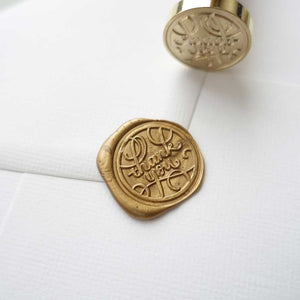 Thank you calligraphy wax seal stamp for packaging wedding
