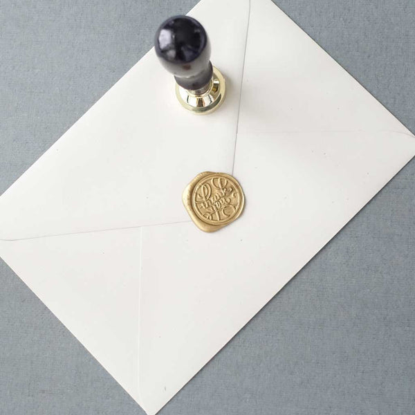 Thank you calligraphy wax seal stamp for packaging wedding envelopes