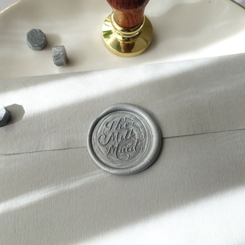 Custom calligraphy logo wax seal stamp