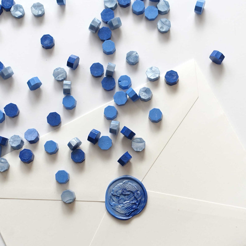 Mixed baby light frost navy royal dark azure marine sealing wax Australia envelopes