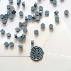 Mixed grey blue sealing wax seal beads pellets Melbourne Sydney Australia envelopes
