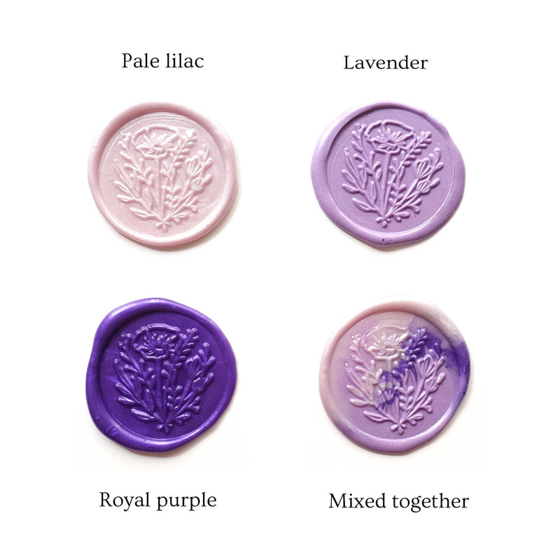 Royal Purple Lilac Lavender wild flower wax seals Fiona Ariva Australia