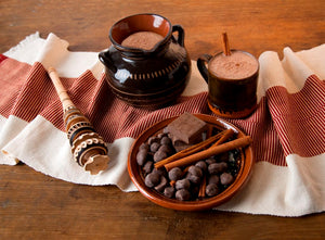 Mexican Hot Chocolate Gift Set with Molinillo Artesano