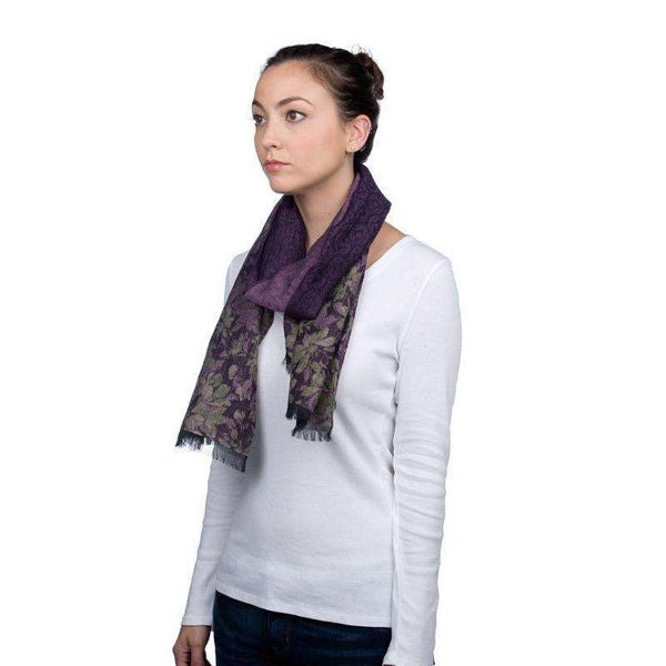 Cotton and Wool Scarf - Purple