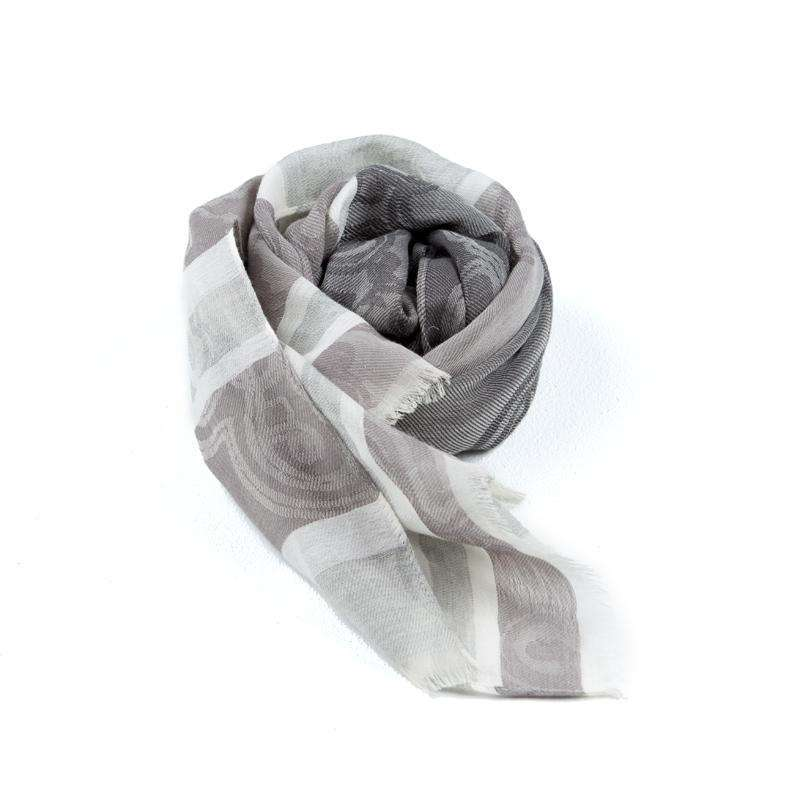 Cotton and Silk Rectangle Scarf - Grey