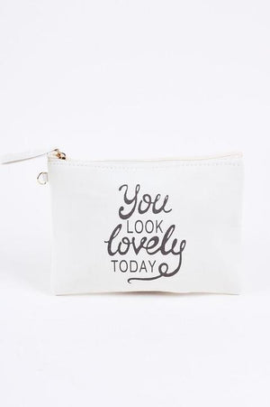 """YOU LOOK LOVELY' Printed Make Up Cosmetics Bags"