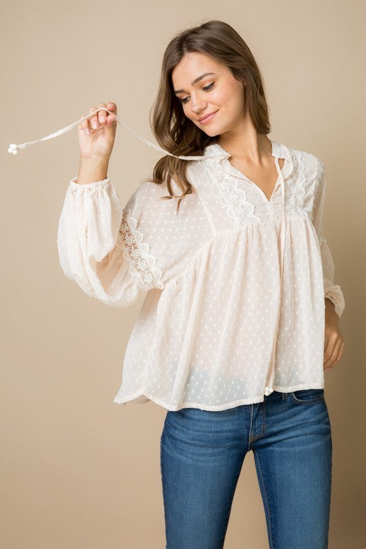 WHITE AIRY BLOUSE