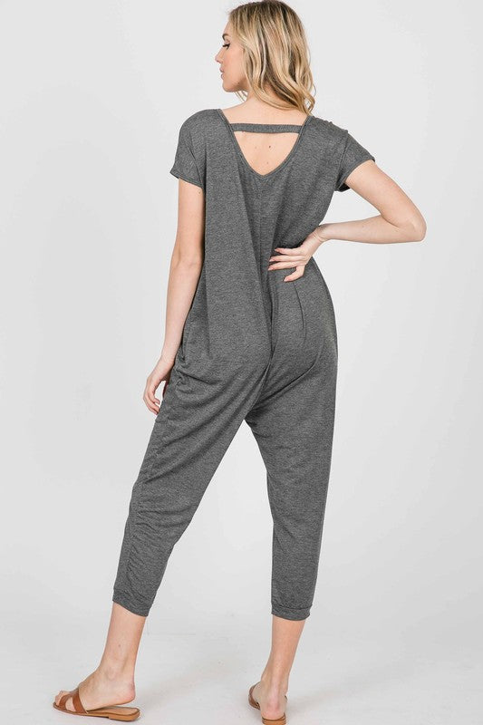 Grey Romper Jumpsuits