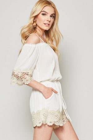 Ivory Lace Romper