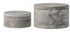 Grey Round Decorative Cement Box Set with Lids