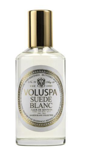 SUEDE BLANC ROOM AND BODY MIST 3.8 OZ VOLUSPA