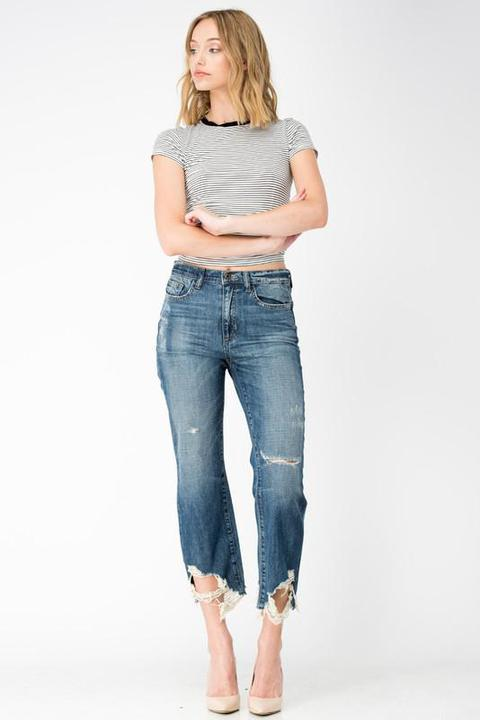 HIGH RISE RELAXED FIT JEANS