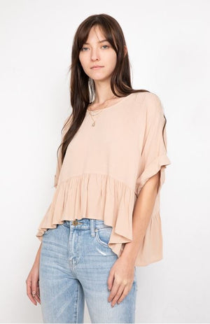 Rose Ruffle Top