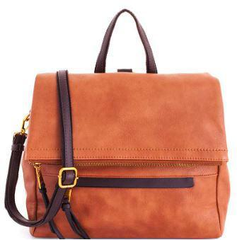 Brown Brief Case Satchel with Long Strap