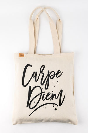 Natural Carpe Diem Shoulder Bag