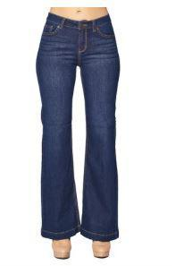 Dark Blue Flared Jeans