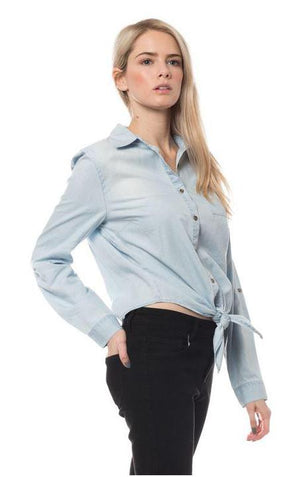 LIGHT BLUE DENIM SHIRT